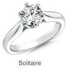 Soltaire rings